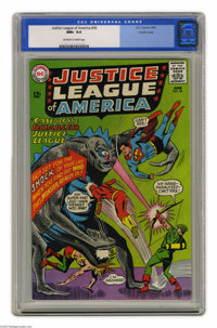 Justice League of America #36 Pacific Coast pedigree (DC, 1965) CGC NM+ 9.6 Off-white to white pages. Batman has become...