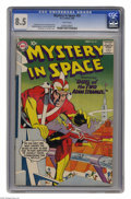 Silver Age (1956-1969):Science Fiction, Mystery in Space #59 (DC, 1960) CGC VF+ 8.5 White pages. Gil Kanecover. Murphy Anderson, Carmine Infantino, and Sid Greene ...