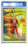 """Silver Age (1956-1969):Science Fiction, Mystery in Space #82 (DC, 1963) CGC VF+ 8.5 Cream to off-white pages. Carmine Infantino art. CGC notes, """"Light tanning (at) ..."""