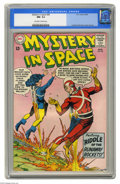 Silver Age (1956-1969):Science Fiction, Mystery in Space #85 (DC, 1963) CGC NM- 9.2 Off-white to whitepages. Carmine Infantino's art on Adam Strange was a career h...
