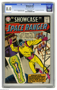 Showcase #15 Space Ranger (DC, 1958) CGC VF 8.0 Off-white to white pages. This is a Showcase issue we don't see very oft...