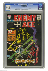 Showcase #57 Enemy Ace - Pacific Coast pedigree (DC, 1965) CGC NM 9.4 White pages. DC's German flying ace Hans von Hamme...