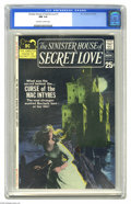 Bronze Age (1970-1979):Romance, Sinister House of Secret Love #1 (DC, 1971) CGC NM 9.4 Off-white towhite pages. If there's a dark castle with a light in on...
