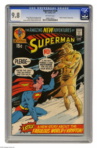 "Superman #238 (DC, 1971) CGC NM/MT 9.8 Off-white pages. Carmine Infantino. Curt Swan art. ""World of Krypton"" b..."