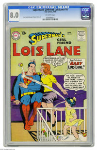 Superman's Girl Friend Lois Lane #10 (DC, 1959) CGC VF 8.0 Off-white pages. Lois Lane finds herself in a bit of a mess i...