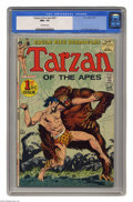 Bronze Age (1970-1979):Miscellaneous, Tarzan #207 (DC, 1972) CGC NM+ 9.6 Off-white pages. First DC issue.Origin of Tarzan. Origin of John Carter. Joe Kubert cove...