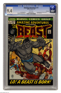 "Amazing Adventures #11 Winnipeg pedigree (Marvel, 1972) CGC NM 9.4 White pages. First appearance of the ""furry""..."
