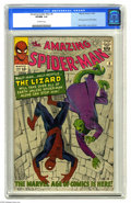 Silver Age (1956-1969):Superhero, The Amazing Spider-Man #6 (Marvel, 1963) CGC VF/NM 9.0 Off-whitepages. It's the first appearance of the Lizard, who's terro...