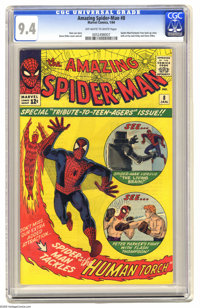 The Amazing Spider-Man #8 (Marvel, 1964) CGC NM 9.4 Off-white to white pages. Every kid who ever tangled with a school b...