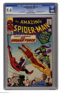 Silver Age (1956-1969):Superhero, The Amazing Spider-Man #17 (Marvel, 1964) CGC NM 9.4 Off-white pages. As if Spidey didn't have his hands full with his secon...