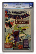 Silver Age (1956-1969):Superhero, The Amazing Spider-Man #24 (Marvel, 1965) CGC NM 9.4 Off-white pages. Images of the Vulture and the Sandman surround Spidey ...