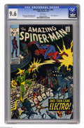 Bronze Age (1970-1979):Superhero, The Amazing Spider-Man #82 (Marvel, 1970) CGC NM+ 9.6 White pages. Spider-Man attempted to appear on TV shows to make money ...