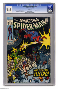 The Amazing Spider-Man #82 (Marvel, 1970) CGC NM+ 9.6 White pages. Spider-Man attempted to appear on TV shows to make mo...