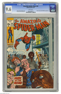 The Amazing Spider-Man #99 (Marvel, 1971) CGC NM+ 9.6 White pages. It's another rough day for Spidey. First, he breaks u...