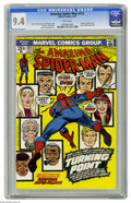 Bronze Age (1970-1979):Superhero, The Amazing Spider-Man #121 (Marvel, 1973) CGC NM 9.4 White pages. This issue features the death of Gwen Stacy. The cover ar...