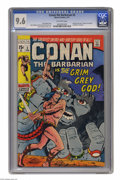 """Bronze Age (1970-1979):Superhero, Conan the Barbarian #3 (Marvel, 1971) CGC NM+ 9.6 Off-white pages. Based on the story """"The Grey God Passes"""" by Conan creator..."""