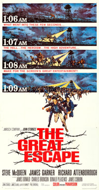 "The Great Escape (United Artists, 1963). Three Sheet (41"" X 81"") Frank McCarthy Artwork"