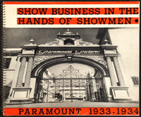 "Paramount Exhibitor Book (Paramount, 1933-1934). Spiral Bound Book (Multiple Pages, 17"" X 14"")"