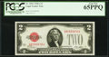Small Size:Legal Tender Notes, Fr. 1502 $2 1928A Legal Tender Note. PCGS Gem New 65PPQ.. ...
