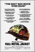 """Movie Posters:War, Full Metal Jacket & Other Lot (Warner Brothers, 1987). OneSheets (27"""" X 41"""") SS Review Style & Spanish One Sheet (26.5"""" X3... (Total: 2 Items)"""