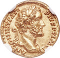 Ancients:Roman Imperial, Ancients: Antoninus Pius (AD 138-161). AV aureus (18mm, 7.27 gm, 6h). NGC Choice MS 5/5 - 5/5....