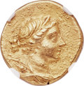 Ancients:Greek, Ancients: IONIA. Magnesia ad Meandrum. Ca. 155-145 BC. AV stater (18mm, 8.42 gm, 12h). NGC Choice AU 5/5 - 4/5....