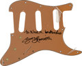 Music Memorabilia:Autographs and Signed Items, Beatles - George Harrison Signed Stratocaster Pickguard....