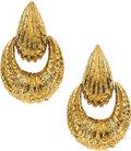 Estate Jewelry:Earrings, Gold Earrings, Van Cleef & Arpels  The 18k gol...
