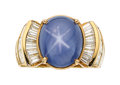 Estate Jewelry:Rings, Star Sapphire, Diamond, Gold Ring . ...