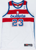 Autographs:Jerseys, Michael Jordan Signed Washington Bullets Throwback Jersey. . ...