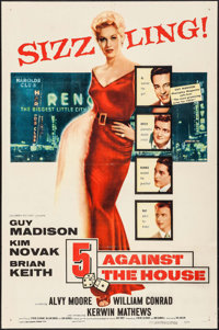 """5 Against the House (Columbia, 1955). One Sheet (26.75"""" X 41""""). Film Noir"""