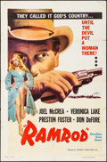 "Movie Posters:Western, Ramrod (Favorite Attractions, R-1953). One Sheet (27"" X 41""). Western.. ..."
