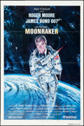 "Movie Posters:James Bond, Moonraker (United Artists, 1979). Advance One Sheet (27"" X 41"") Style A. Dan Gouzee Artwork. James Bond.. ..."