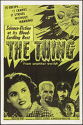 "Movie Posters:Science Fiction, The Thing from Another World (RKO, R-1957). One Sheet (27"" X 41""). Science Fiction.. ..."