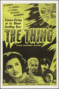 "The Thing from Another World (RKO, R-1957). One Sheet (27"" X 41""). Science Fiction"