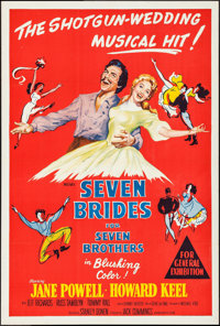 "Seven Brides for Seven Brothers (MGM, 1954). Australian One Sheet (27"" X 40""). Musical"