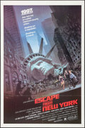 "Movie Posters:Science Fiction, Escape from New York (Avco Embassy, 1981). One Sheet (27"" X 41"")Barry Jackson Artwork. Science Fiction.. ..."