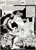 Original Comic Art:Splash Pages, Jim Mooney (attributed) Special Edition: Spider-Man and theHulk #1 Story Page 1 Original Art (Marvel, 1980)....
