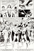 Original Comic Art:Panel Pages, Ross Andru and Klaus Janson World's Finest Comics #300 StoryPage 40 Justice League of America Origina...
