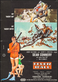 """Thunderball (United Artists, 1965). German A1 (23.25"""" X 33.25""""). Artwork by Frank McCarthy with Robert McGinni..."""