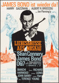 """Movie Posters:James Bond, From Russia with Love (United Artists, R-1970's). Folded, VeryFine-. German A1 (23.25"""" X 33""""). James Bond.. ..."""