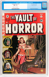 Vault of Horror #23 Gaines File Pedigree (EC, 1952) CGC NM+ 9.6 Off-white to white pages