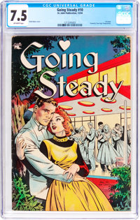 Going Steady #10 (St. John, 1954) CGC VF- 7.5 Off-white pages
