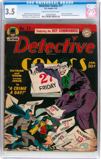 Detective Comics #71 (DC, 1943) CGC VG- 3.5 Cream to off-white pages