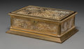 Other, A Tiffany Studios Pine Needle Pattern Gilt Bronze and Glass Box, Corona, New York, early 20th century. Marks: ...