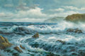 Fine Art - Painting, American, R. Mills (American, 20th Century). Oregon Coast. Oil oncanvas. 24 x 36 inches (61.0 x 91.4 cm). Signed lower right:R...