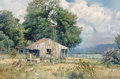Fine Art - Painting, American, James Robinson (American, 1944-2015). The Old Homestead. Oilon board. 24 x 37 inches (61.0 x 94.0 cm). Signed lower rig...