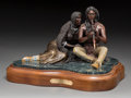 Fine Art - Sculpture, American, Michael Westergard (American, 20th Century). Love Song of the Plains, 1993. Bronze with polychrome. 6 x 2-1/2 inches (15...