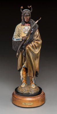 Michael Westergard (American, 20th Century) War Honors Bronze with polychrome 15-3/4 inches (40.0