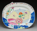 Asian:Chinese, A Chinese Export Porcelain Tobacco Leaf Platter, 19thcentury. 12 x 14-3/8 inches (30.5 x 36.5 cm). ...